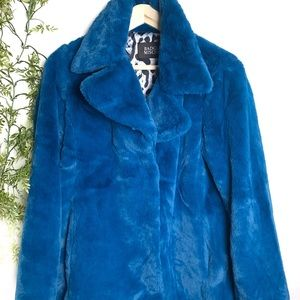BADGLEY MISCHKA | Bunny Faux Fur Trench Coat Sz S
